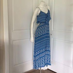 Dolce Vita Ikat Blue & White Maxi